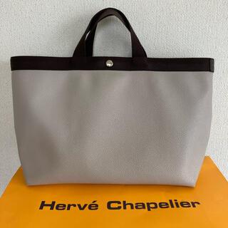 Herve Chapelier - エルベシャプリエ 705GP  スクエアトート マスティック モカ