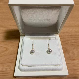 MIKIMOTO - MIKIMOTO ミキモト ピアス パール ダイアモンド K18