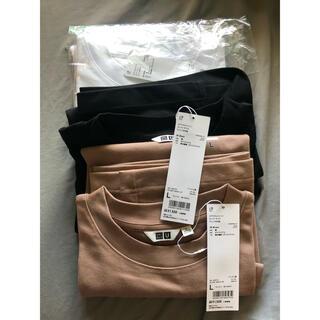 UNIQLO - 【3着セット】UNIQLO エアリズムコットン オーバーサイズTシャツ