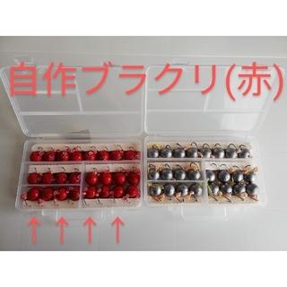 自作ブラクリ(赤)4号 1箱24個(ルアー用品)