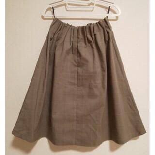 グローブ(grove)のgrove  チェック柄 膝丈スカート  (ひざ丈スカート)