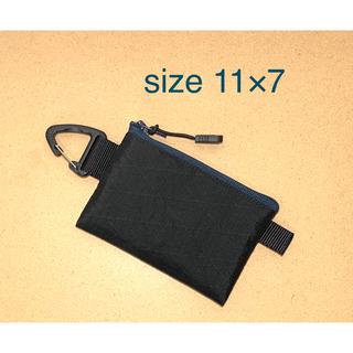 X-pac X21 RCブラック カード入れポーチ(三角カラビナ付き)