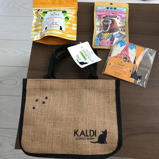 カルディ(KALDI)のカルディKALDIネコの日バッグ2021カレンダー ハーバル飴ジャンナッツティー(トートバッグ)