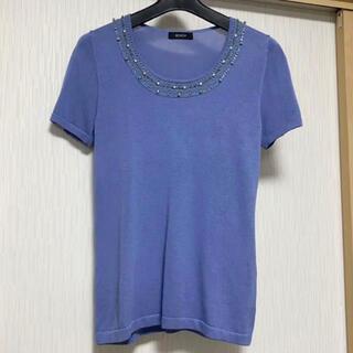 ボッシュ(BOSCH)のBOSCH  ビーズ装飾半袖ニット(ニット/セーター)