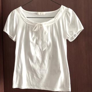 エニィスィス(anySiS)のエニシス カットソー シャツ ブラウス オフホワイト(Tシャツ(半袖/袖なし))