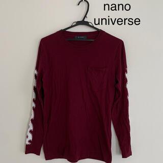 nano・universe - ナノユニバース 長袖Tシャツ(ワイン色)