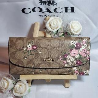 COACH - COACH コーチ 花柄 フローラル 折り長財布