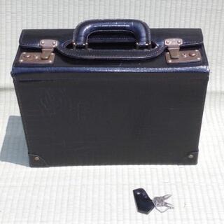 ◆レトロ◆クロコ柄 鍵付き トランク アタッシュケース