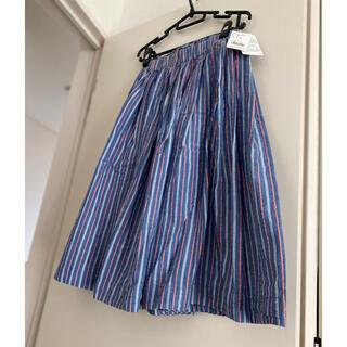 アーバンリサーチ(URBAN RESEARCH)のシアサッカーストライプスカート(ひざ丈スカート)