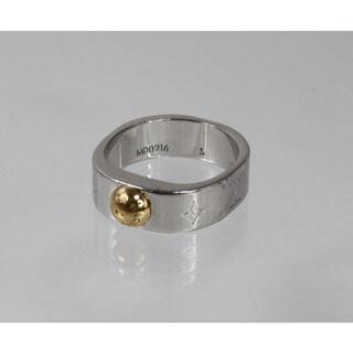ルイヴィトン(LOUIS VUITTON)のルイヴィトン 指輪 10号 M00216/ナノグラム・パラジウム&750YG(リング(指輪))