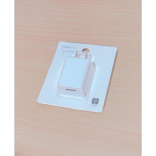 フランフラン(Francfranc)のACアダプタ ホワイト USB対応 iPhone Android(変圧器/アダプター)