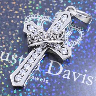 ジャスティンデイビス(Justin Davis)のジャスティンデイビス クロスウィズクラウン 人気 名作 高級 クリア(ネックレス)