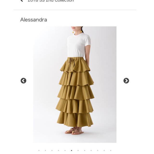 TSURU by Mariko Oikawa(ツルバイマリコオイカワ)の⭐︎試着のみ美品⭐︎ ツルバイマリコオイカワ ティアードフリルスカート ホワイト レディースのスカート(ロングスカート)の商品写真