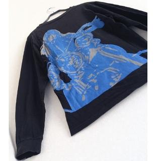 HYSTERIC GLAMOUR - ◆1 レア ビンテージ ヒステリックグラマー あの胸にもう一度 カットソー 黒