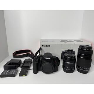 キヤノン(Canon)の美品! EOS kissX9i ダブルズームキット(デジタル一眼)
