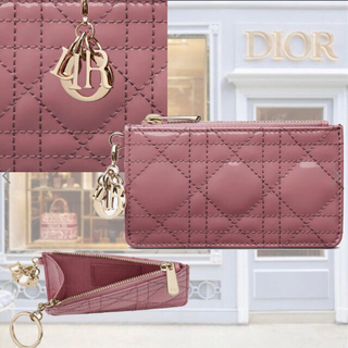 Christian Dior - LADY DIOR ジップ カードホルダー カナージュ