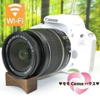 Canon - キャノン Kiss X7♪超可愛い☆真っ白一眼レフ!1668