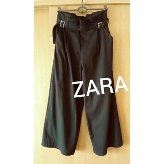 ZARA - ZARA   ザラ   タック ワイドパンツ ブラック