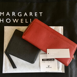 マーガレットハウエル(MARGARET HOWELL)の美品 マーガレットハウエル 国産レザーウォレット 二つ折財布 1.7万 男女兼用(財布)