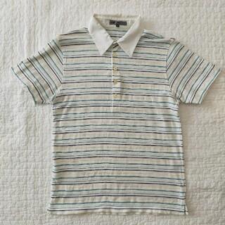 ミッシェルクラン(MICHEL KLEIN)のMICHEL KLEIN ストライプポロシャツ(半袖)(ポロシャツ)