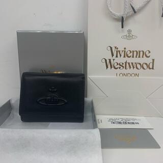 Vivienne Westwood - 新品☆ ヴィヴィアンウエストウッドVivienneエナメル3つ折り財布 ブラック