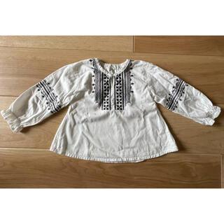 ニシマツヤ(西松屋)の長袖 トップス ブラウス 刺繍(Tシャツ/カットソー)