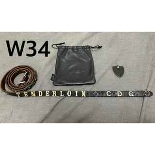 テンダーロイン(TENDERLOIN)のテンダーロイン ギャルソン ナローベルト W34  HTC TENDERLOIN(ベルト)