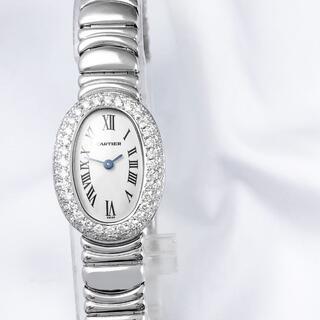 カルティエ(Cartier)の【仕上済】カルティエ ミニベニュワール WG ブレス ダイヤ レディース 時計(腕時計)