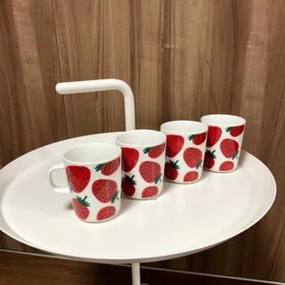 marimekko - Mansikka・マグカップ◆マリメッコ・marimekko◆いちご・マグカップ