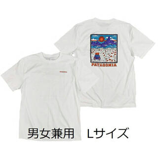 patagonia - パタゴニアTシャツ サミットロード 白 Lサイズ かわいいポップアート