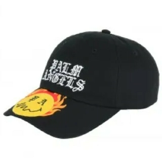 Palm Angels BURNING HEAD CAP BLACK 黒