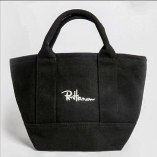 Ron Herman - ロンハーマン Ron Herman トートバッグ ブラック 刺しゅう 刺繍