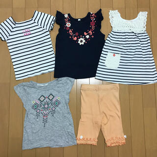 アナップキッズ(ANAP Kids)の女の子 トップス(Tシャツ ワンピース)5着まとめ売り♡110cm♡(Tシャツ/カットソー)