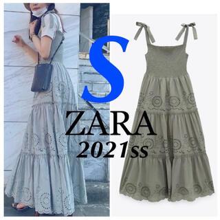ZARA - ZARA 新品♡カットワーク 刺繍ワンピース S snidel