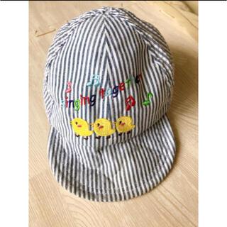 ニシマツヤ(西松屋)のキャップ 帽子 ストライプ ベビー(帽子)