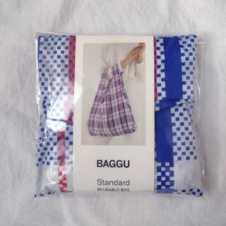 エディットフォールル(EDIT.FOR LULU)のマーケットブルー BAGGU  baguu バグー スタンダード チェック(エコバッグ)