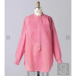 Drawer - 美品 2021SS BLAMINK コットンシルクストライプシャツ 36