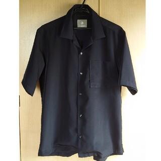 ナノユニバース(nano・universe)の送料込み ナノユニバース オープンカラー 半袖シャツ Lサイズ ネイビー(シャツ)