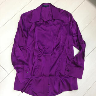 BURBERRY - バーバリー  シルク 未使用 超美品 シャツ 40