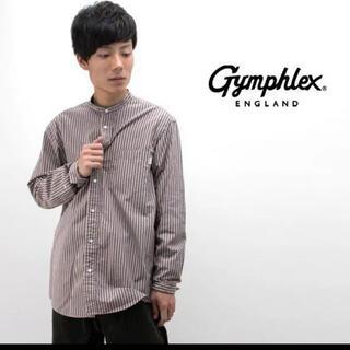 GYMPHLEX - Gymphlex  バンドカラー シャツ オーバーサイズ シャツ メンズ