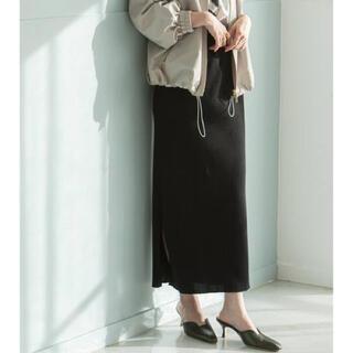 Noble - NOBLE トタンテレコタイトスカート 38  ブラック