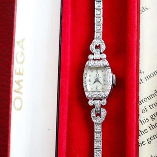 OMEGA - オーバーホール済✨希少 オメガ プラチナ ダイヤ時計✨ロレックス ティファニー