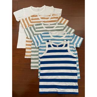ムジルシリョウヒン(MUJI (無印良品))の無印良品 Tシャツ 110サイズ 5枚セット(Tシャツ/カットソー)