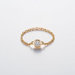 バーニーズニューヨーク(BARNEYS NEW YORK)のジョアドゥトリート Joie De treat ダイアモンドチェーンリング(リング(指輪))