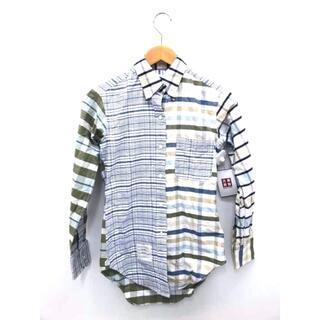 トムブラウン(THOM BROWNE)のTHOM BROWNE(トムブラウン) チェック切替デザインBDシャツ トップス(シャツ/ブラウス(長袖/七分))