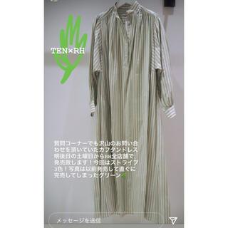 ロンハーマン(Ron Herman)の新品未使用タグ付 TEN ×ロンハーマン Stripe Kaftan Dress(ロングワンピース/マキシワンピース)