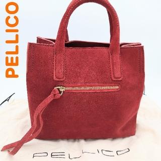 ペリーコ(PELLICO)のPELLICO ペリーコ ハンドバッグ ミニトート レザー スエード 赤(ハンドバッグ)