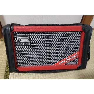 ローランド(Roland)のROLAND Cube street Red  アンプ 赤色 ギター ボーカル(ギターアンプ)