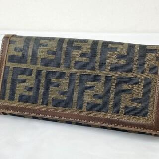 FENDI - FENDI フェンディ 二つ折り長財布FF柄 レザー ウォレット小銭入れ札入れ