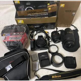 Nikon D5500 ダブルズームキット カメラケース セット(デジタル一眼)